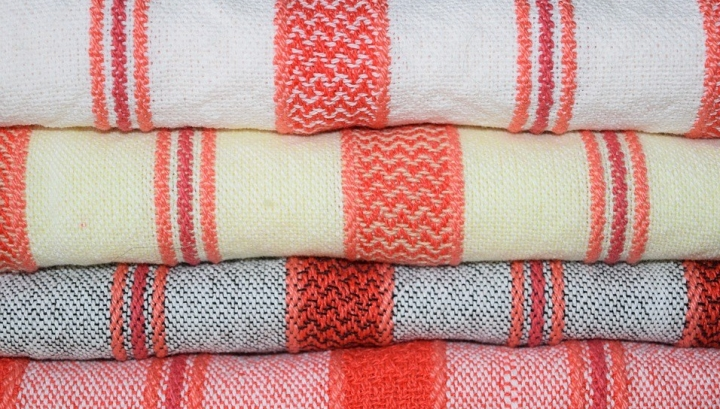 Stripes Cloth Fabric Hand-woven Weaving Towels
